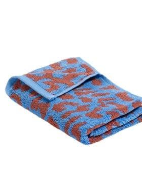 Hay It/ Sky Blue and Cinnamon Guest Towel 50x70