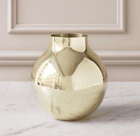 Skultuna Boule Vase, large messing