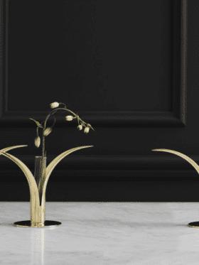 Skultuna Vase for the Lily candleholder