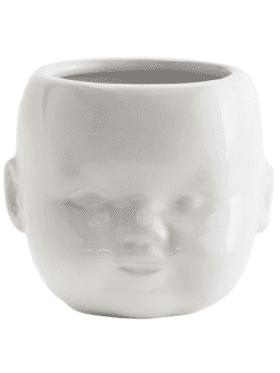 Madame Stoltz Ceramic Pot White Porcelain