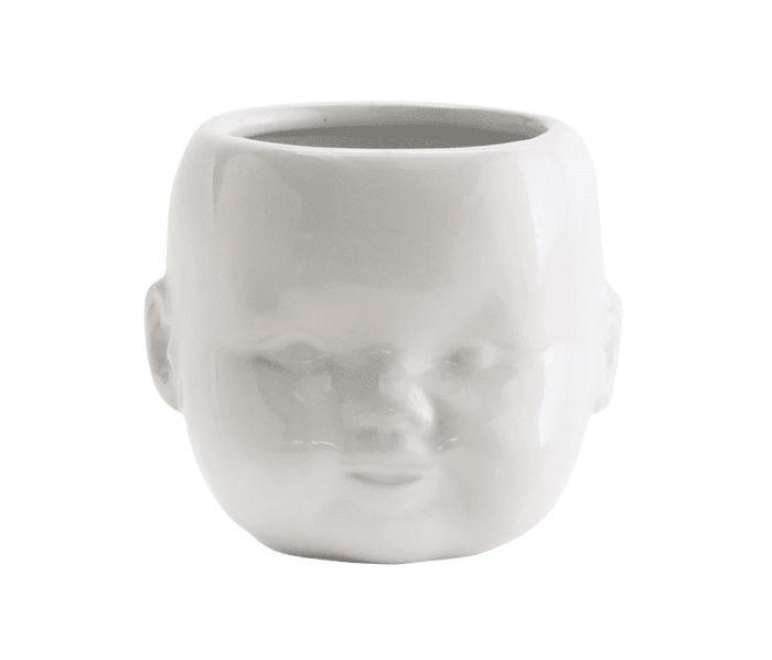 Madame Stoltz Ceramic Pot White Porcelain