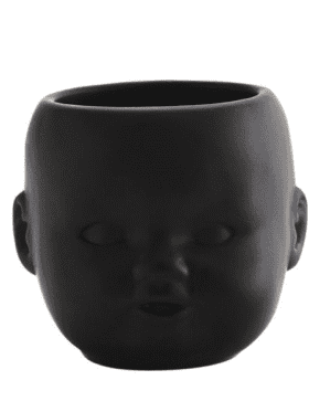 Madame Stoltz Ceramic Pot Black Porselain