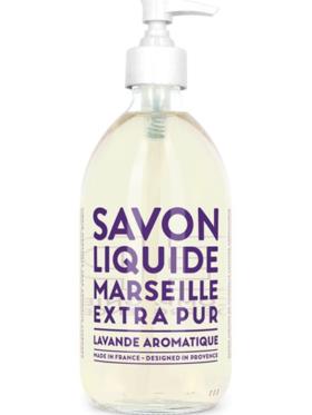 Savon Liquide Marseille Lavande Aromatique Glass Bottle