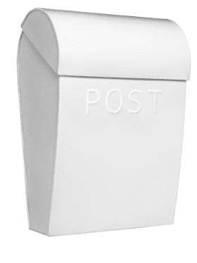 Bruka Design Postkasse Hvit/Hvit