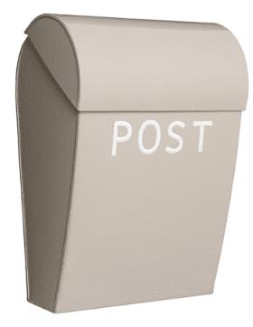 Bruka Design Postkasse Sand/hvit