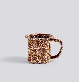 HAY Enamel Mug Sprinkle Brown