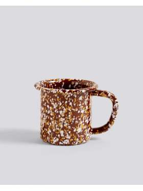 HAY Enamel Mug Sprinkle Brown