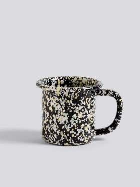 HAY Enamel Mug Sprinkle Black