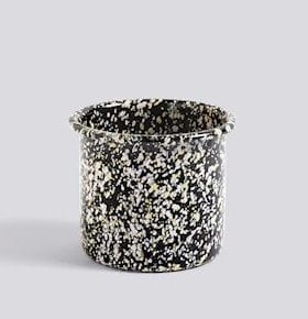 HAY Enamel Herb Pot Sparkle Black