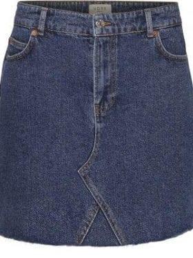 NORR Sigrid Denim Skirt Blue Denim
