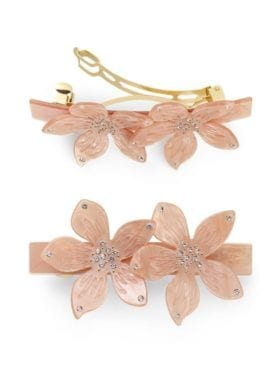 Sui Ava Flower Clip Peach