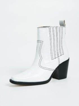 Ganni Boots SO 984 Bright White