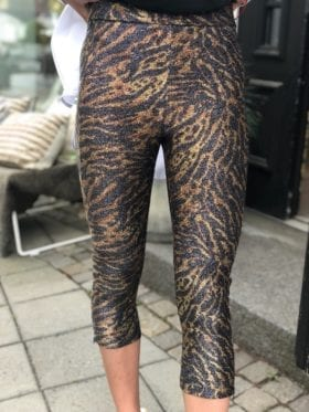 Ganni Lurex Jersey Pant Tiger Tights