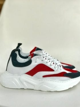 Pavement Meadow Sneaker Navy/Red