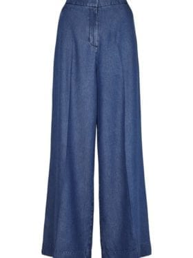 Second Female Lyle HW Trousers Blue Denim