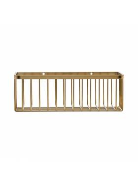 House Doctor Brushed Basket Brass