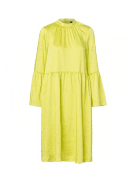 Resume Pil Dress Neon Yellow