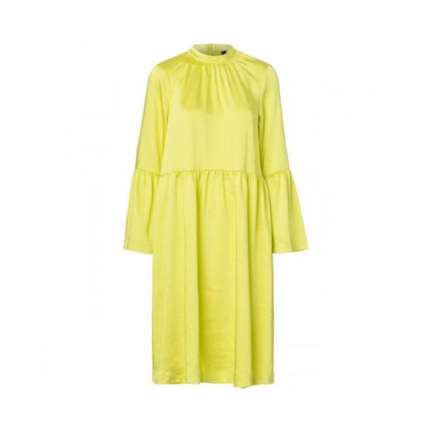 Resume Pil Dress Neon Yellow