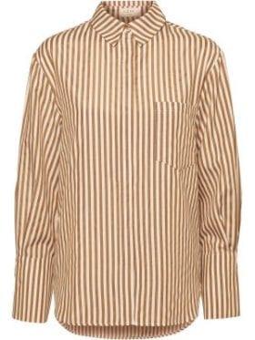 NORR Helen Shirt Browm Stripe