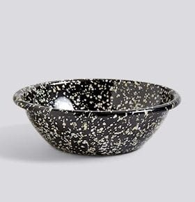 HAY Enamel Serving Bowl Sprinkle Black