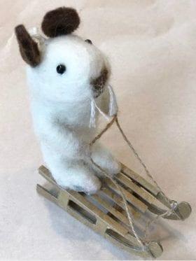 Afro Art Mouse Sledge White