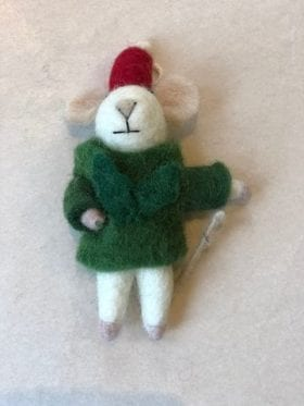 Afro Art Mouse Santa