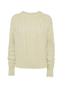 NORR Kelsie Knit Top Ivory