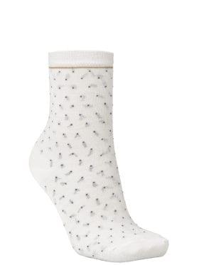 Becksöndergaard Darsi Shiny Dots Sock Off White