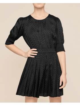 by TiMo Satin Jaquard Mini Dress Black
