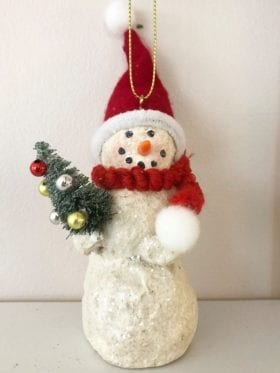 ShiShi Mache Snowman Cream 14cm