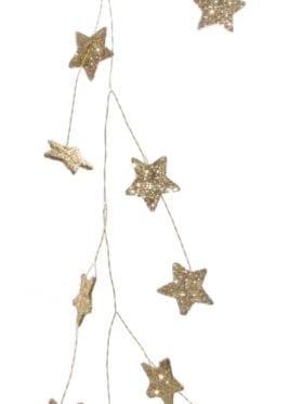 ShiShi Glitter Mini Star Wire Garland Dark Gold