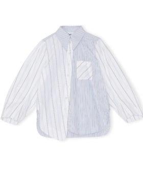 Ganni Shirting Cotton Skjorte Block Colour