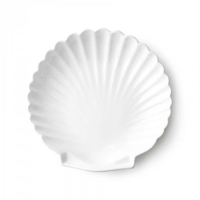 HK Living Athena Ceramics Shell Tray White L
