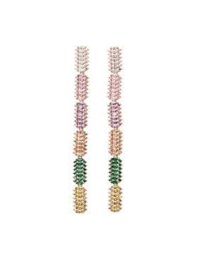 Pico Lorna Crystal Stud  Gold Multi