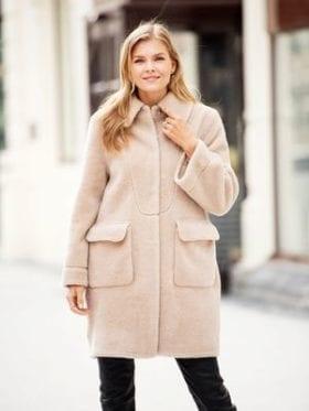 Ane Mone Lamb Fur Coat Sand