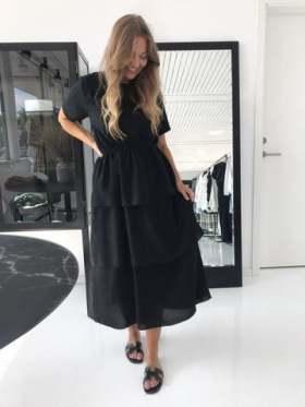 by TiMo Stripe button up dress RÅTT OG SANSELIG AS
