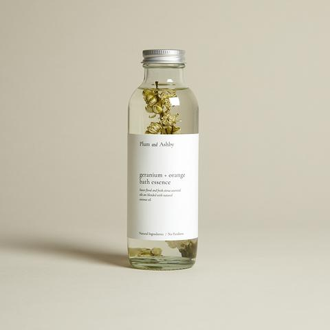 Plum & Ashby Geranium & Orange Badeolje