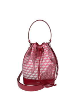 Loup Noir Bucket Bag Small Cheval burgundy