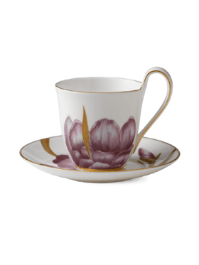 Royal Copenhagen Flora cup with saucer Iris