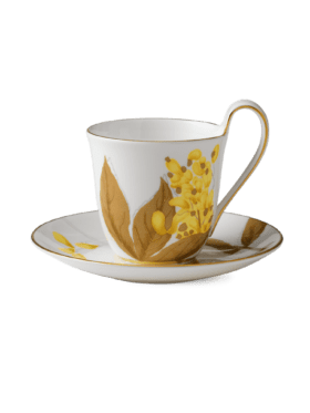 Royal Copenhagen Flora Cup with saucer Laburnum