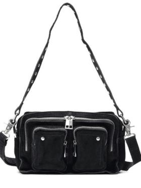 Nunoo Ellie new suede bag Black