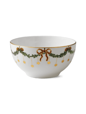 Royal Copenhagen Star Fluted Christmas Bowl 180cl