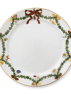 Royal Copenhagen Star Fluted Christmas Plate flat tallerken 27cm