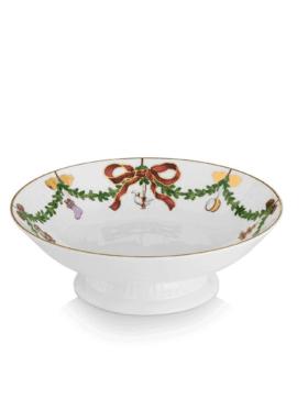 Royal Copenhagen Star Fluted Christmas Bowl on stand 18cm