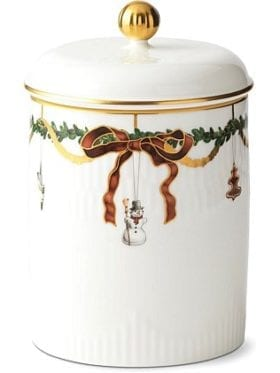 Royal Copenhagen Star Fluted Christmas Jar w/lid 16cm