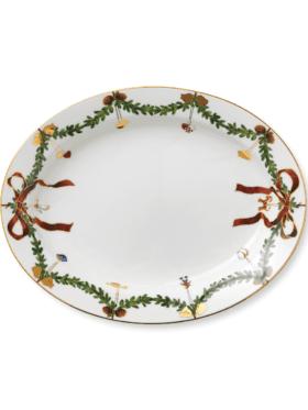 Royal Copenhagen Star Fluted Christmas dish oval 37cm