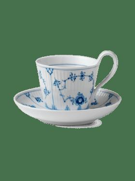 Royal Copenhagen Blue Fluted Plain Cup & Saucer 25cl