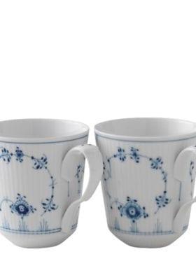 Royal Copenhagen Blue Fluted Plain Mug 2pcs
