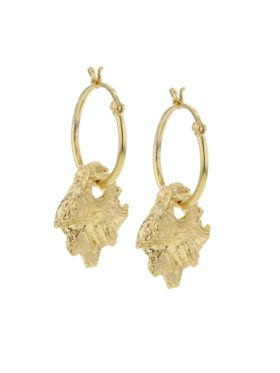 Hasla Rocks Hematite gold earrings