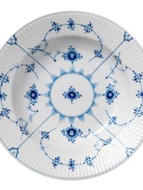 Royal Copenhagen Blue Fluted Plain Plate Soup 23cm